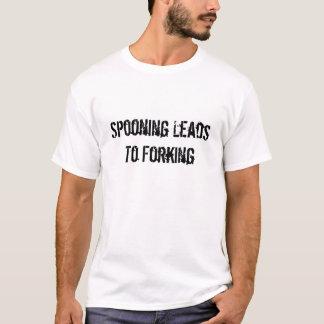 Camiseta El cucharear lleva a bifurcar