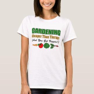 Camiseta El cultivar un huerto más barato que terapia