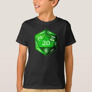 Camiseta El D&D ESMERALDA verde y blanco de d20 muere