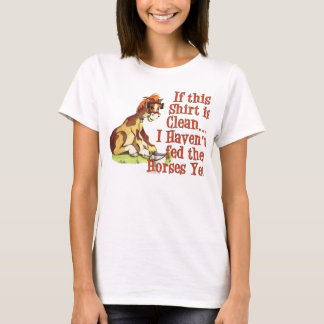 Camiseta El decir divertido del caballo