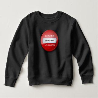 Camiseta el | del niño ningunas devoluciones