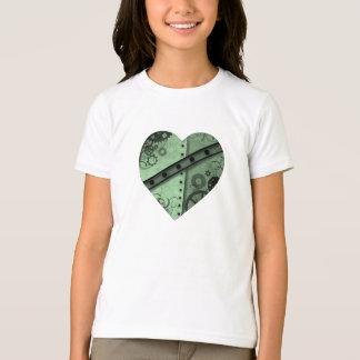 Camiseta El día de San Valentín pálido - hea verde y negro