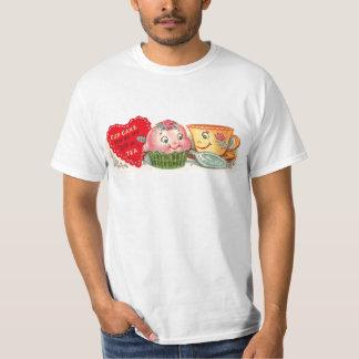 Camiseta El día de San Valentín retro de la magdalena y de