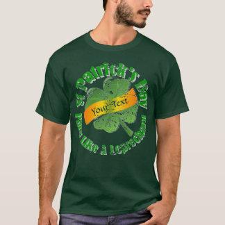 Camiseta El día de St Patrick del fiesta del Leprechaun