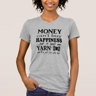 Camiseta El dinero no da la felicidad • Artes/hilado