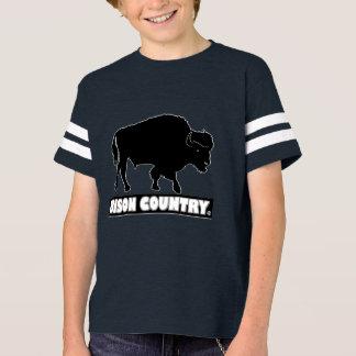 Camiseta El diseñador animal del bisonte embroma venta de