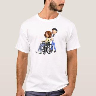 Camiseta El doctor Wheeling Patient In Wheelchair del