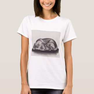 Camiseta El dormir del Snuggle del perro y del gato