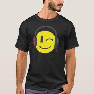 Camiseta El emoticon del smiley de DJ