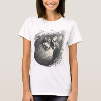 Camiseta el escalador de cobre del mismo tamaño