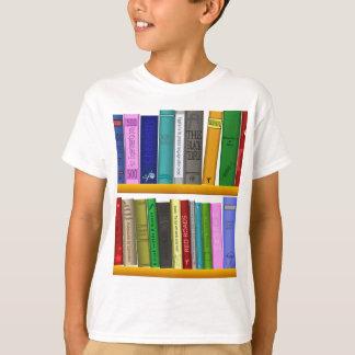 Camiseta el estante reserva la lectura de la biblioteca