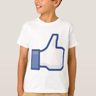 Camiseta ¡el facebook TIENE GUSTO de mí de manosear con los