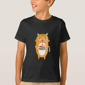 Camiseta El gato con el fiesta atribuye el Sti enrrollado