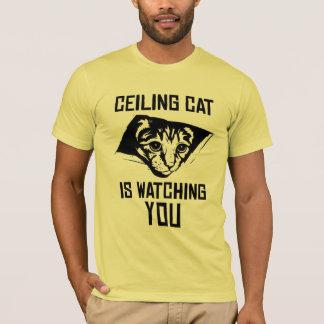Camiseta ¡El gato del techo le está mirando!