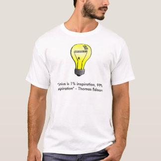 """Camiseta El """"genio es inspiración del 1%, cita de la"""