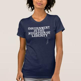 Camiseta El gobierno es la negación de la libertad