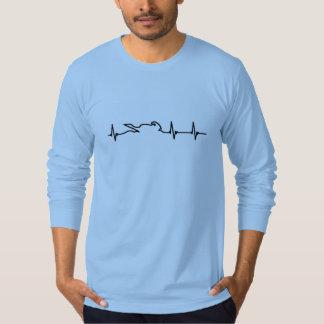 Camiseta El golpe de corazón de un motorista