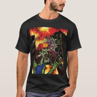 Camiseta El golpear como un maniaco - cubra el arte con el