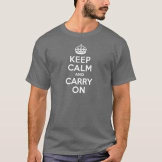 Camiseta El gris guarda calma y continúa