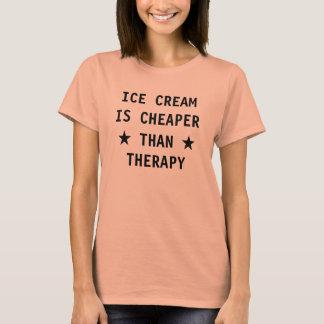 Camiseta El helado es más barato que la terapia divertida