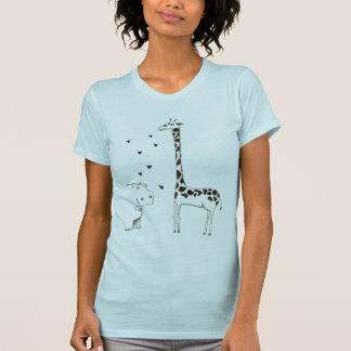 Camiseta El hipopótamo ama la jirafa
