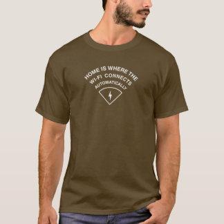Camiseta El hogar es donde el Wi-Fi conecta automáticamente