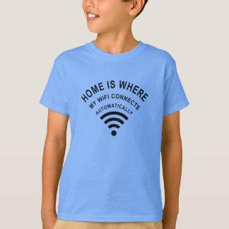 Camiseta El hogar es donde mi wifi conecta automáticamente