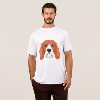Camiseta El ilustracion persigue el beagle de la cara