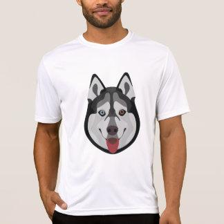 Camiseta El ilustracion persigue el husky siberiano de la