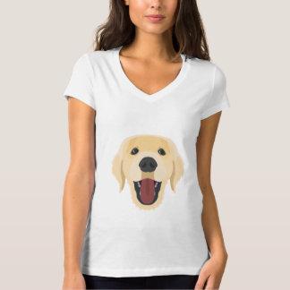 Camiseta El ilustracion persigue la cara Retriver de oro
