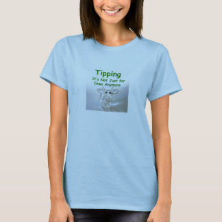 Camiseta El inclinar - no está apenas para el T de las