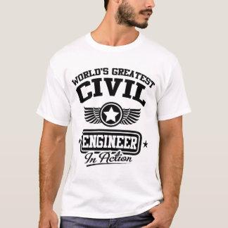 Camiseta El ingeniero civil más grande del mundo en la