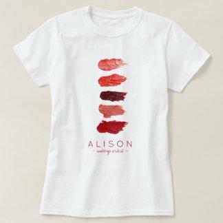Camiseta El lápiz labial del nombre del artista de