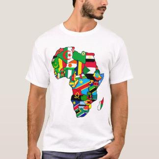 Camiseta El mapa africano de las banderas de África dentro