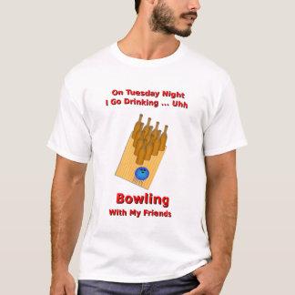 Camiseta El martes por la noche jugador de bolos de la