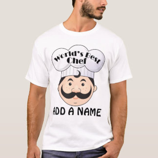 Camiseta El mejor cocinero del mundo personalizado