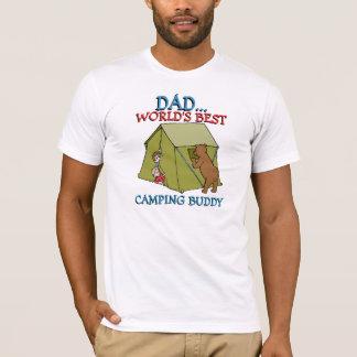 Camiseta El mejor compinche que acampa del PAPÁ