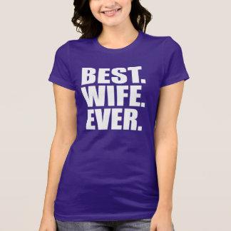 Camiseta El mejor. Esposa. Nunca. (púrpura)