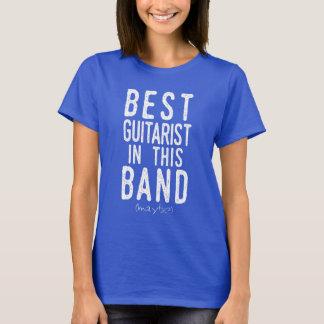 Camiseta El mejor guitarrista (quizá) (blanco)