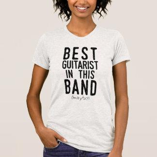 Camiseta El mejor guitarrista (quizá) (negro)