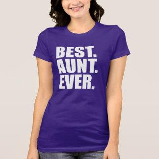 Camiseta El mejor. Tía. Nunca. (púrpura)