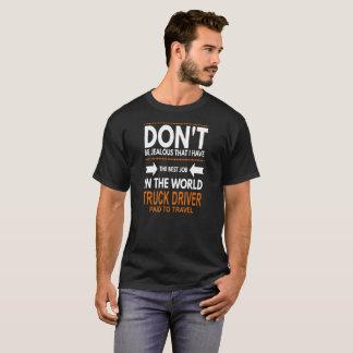 Camiseta El mejor trabajo en el conductor de camión del