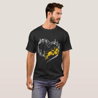 Camiseta El montar a caballo de los latidos del corazón al
