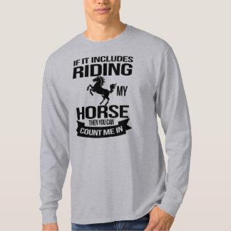 Camiseta El montar a caballo divertido me cuenta adentro