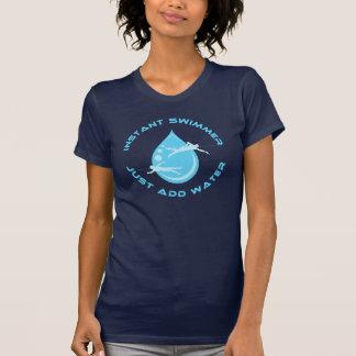 Camiseta El nadador inmediato apenas añade el agua