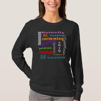 Camiseta El nadar por todas partes