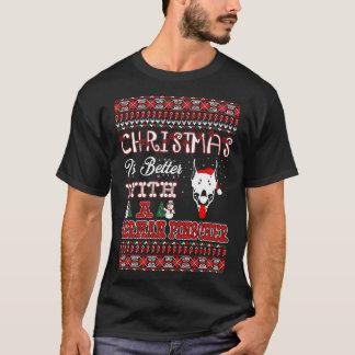 Camiseta El navidad es mejor con un Pinscher alemán feo