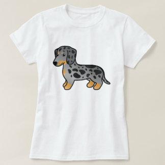 Camiseta El negro y el moreno Dapple el perro liso del