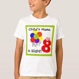 Camiseta el niño es ocho, yo es 8, octavo cumpleaños,