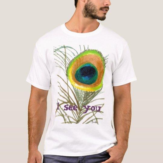 Camiseta el ojo 1 del pavo real, le veo